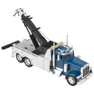 Peterbilt Tow Truck Die-Cast Collectible — 1:32 Scale, Blue