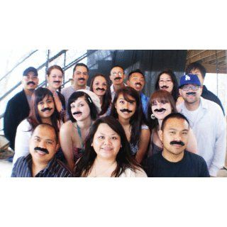 Self Adhesive Mustaches Set   Fake Costume Halloween   3 Count (Packs of 12) Toys & Games