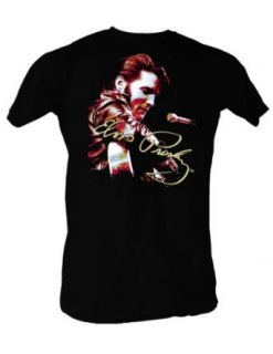 Elvis Presley   Signature Solo Mens T Shirt In Black Clothing