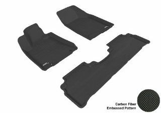 3D MAXpider Complete Set Custom Fit All Weather Floor Mat for Select Lexus RX350/330 Models   Kagu Rubber (Black) Automotive