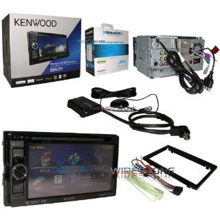"Kenwood DDX370 In Dash 6.1"" LCD Touchscreen Double DIN DVD//USB Car Stereo Receiver with iPod/iPhone Support + SiriusXM Connect Vehicle Tuner  Touch Screen Car Stereo"