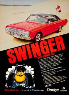 1968 Ad 1969 Dodge Dart Swinger 340 Muscle Car Bee Hardtop V8 Engine Scat Pack   Original Print Ad