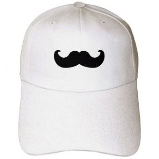 InspirationzStore Mustache Collection   Black mustache on white   Ironic hipster moustache   Humorous   Fun   Whimsical   Silly   Funny   Caps: Clothing