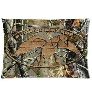 "PanBox Hot Selling DUCK DYNASTY Duck Commander Standard Zippered Pillowcase Cover 20""x30"" inch (50X76cm) Two Sides   Brown"