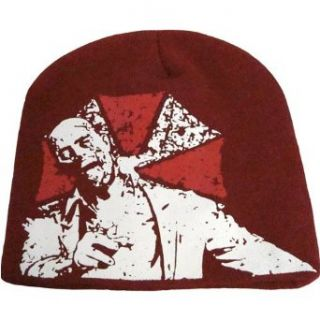 Resident Evil Zombie and Umbrella Corp Logo Beanie: Clothing