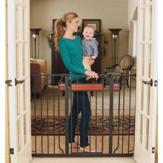 Regalo Easy Open 50 Inch Super Wide Walk Thru Gate   White : Indoor Safety Gates : Baby