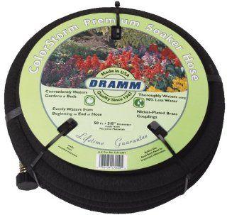 Dramm 17010 ColorStorm Premium 50 Foot by 5/8 Inch Soaker Garden Hose, Black  Watering Nozzles  Patio, Lawn & Garden