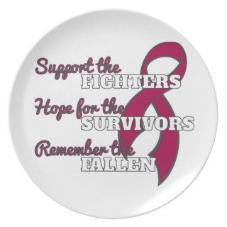 Sickle Cell Anemia Support Hope Remember Party Plates