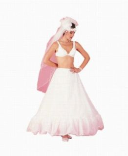 "New Full 11"" Ruffle Drawstring Bridal Petticoat Wedding Gown Slip (112DS) at  Women�s Clothing store: Apparel Half Slips"