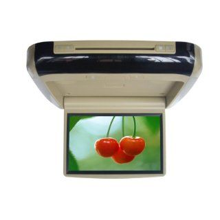 10.2 Inch Car Roof mounted TFT LCD Monitor Flip Down DVD player Monitor/Beige : Vehicle Overhead Video : Car Electronics