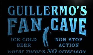tf380 b Guillermo's Golf Fan Cave Man Room Bar Beer Neon Light Sign   Decorative Signs