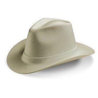Cowboy Hard Hat, One Size, Tan 6 Pt Deluxe nylon Ratchet Suspension, Lot 8   Hardhats