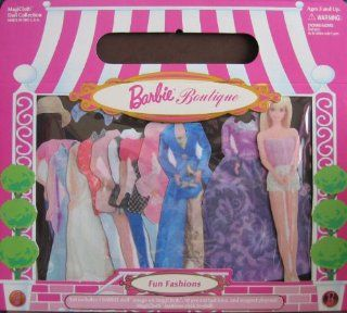 "Barbie Boutique Fun Fashions MagiCloth Doll Collection w Cloth ""Paper"" Barbie Doll & Pre Cut Fashions (1998) Toys & Games"