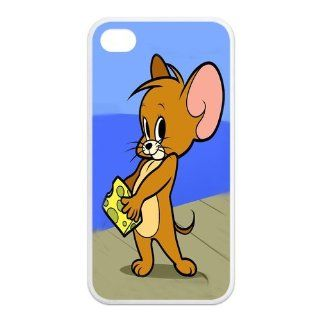 Mystic Zone Tom And Jerry iPhone 4 Case for iPhone 4/4S Cover lovely Cartoon Fits Case KEK0229: Cell Phones & Accessories