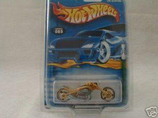 Mattel Hot Wheels 2001 Treasure Hunt 164 Scale Gold Blast Lane 5/12 Die Cast Motorcycle #005 Toys & Games