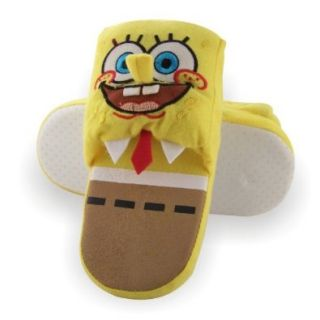SpongeBob Squarepants Young Boys Scuff Yellow Slippers   Sz 9/10 Shoes