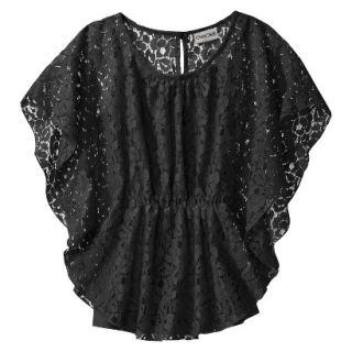 Cherokee Girls 3/4 Sleeve Shirt   Ebony XS
