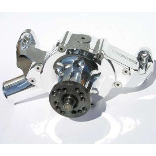 Meziere WP401UP Polished Billet Mechanical Water Pump for Small Block Chevy Automotive