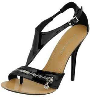 Liliana Sabine Zipper Deco Black Dress Sandals: Shoes
