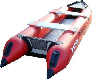 Saturn 12 ft Fishing Kaboat SK396 Inflatable Kayak / Motor Boat Crossover   Green  Open Water Inflatable Rafts  Sports & Outdoors