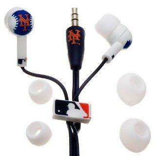 New York Mets Navy Blue Team Logo Baseball Earbud Headphones  Baseball And Softball Socks  Sports & Outdoors