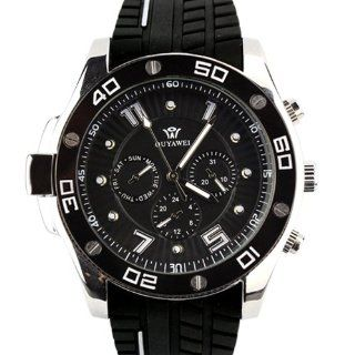 Ouyawei Mens Black 6 Hands Dial Automatic Wrist Watch OYW 1209B at  Men's Watch store.
