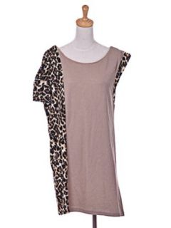 Essential One Sleeve Animal Cheetah Leopard Print Pink Color Mesh Shirt Dress at  Women�s Clothing store: