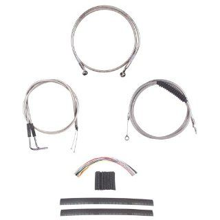 """Hill Country Customs Complete Stainless Cable Brake Line Kit for 13"""" Tall Handlebars 1990 1995 Harley Davidson Softail Models HC CKC21313 SS Automotive"""