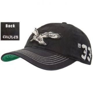 Philadelphia Eagles   Mens Philadelphia Eagles   Logo Badger Fitted Cap Black: Clothing