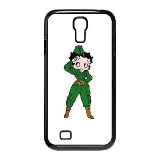 Army Betty Boop Samsung Galaxy S4 I9500 Case Hard Plastic Samsung Galaxy S4 I9500 Case: Cell Phones & Accessories
