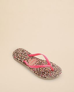 havaianas Girls' Slim Fashion Cheetah Flip Flops   Toddler, Little Kid, Big Kid's