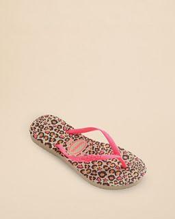 havaianas Girls' Slim Fashion Cheetah Flip Flops   Toddler, Little Kid, Big Kid's