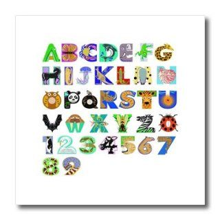 3dRose ht_109686_3 Adorable Alphabet Letters in Animal Forms Iron on Heat Transfer for White Material, 10 by 10 Inch: