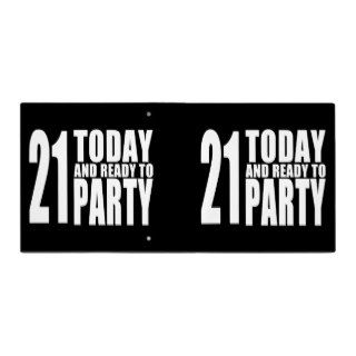 Funny 21st Birthdays : 21 Today and Ready to Party 3 Ring Binders