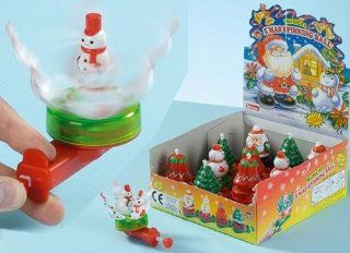 Pms Musical Christmas Spinning Novelty Toy   Stocking Filler/ Christmas Fun (pm265)   Childrens Party Decorations