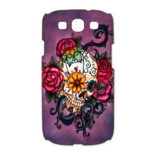 Custom Sugar Skull 3D Cover Case for Samsung Galaxy S3 III i9300 LSM 3134: Cell Phones & Accessories