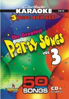 Chartbuster Karaoke CDG 3 Disc Pack CB5012   The Greatest Songs Party Songs Vol. 3 Music