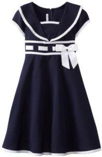 Bonnie Jean Girls 7 16 Nautical Dress, Blue, 14 Playwear Dresses Clothing