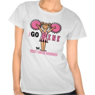 Cheerleader for Breast Cancer Awareness Tee Shirts