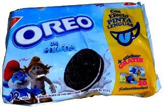 Nabisco Oreo Smurf Chocolate Sandwich Cookies 12/4 Pack : Packaged Chocolate Snack Cookies : Grocery & Gourmet Food