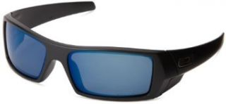 Oakley Men's GasCan Sunglasses,Matte Black/Ice Iridium Polarized,55 mm Oakley Clothing