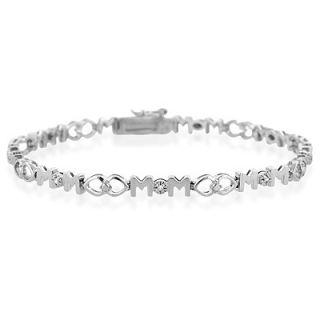 Diamond Accent Mom Bracelet In Sterling Silver Zales
