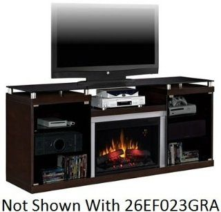 Fireplace Twin Star Classic Flame 26MM9404 E451 Albright Electric Fireplace With Large Viewable Area, Digital Thermostat, 5 Flame Brightness Settings, On Screen Indicator, 6 Button Remote Control Included & In Espresso   Heating Vents