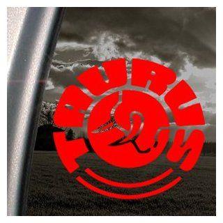 TAURUS FIREARMS GUN Red Decal Car Truck Window Red Sticker Automotive