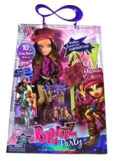 "MGA Entertainment Bratz 10th Anniversary ""Passion for Fashion"" Party Series 10 Inch Doll   YASMIN with 2 Sets of Outfits, Pink Hat, 2 pair of Shoes, Earrings, Necklace, Bracelet and Purse: Toys & Games"