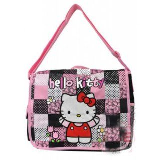 Hello Kitty Wholesale Large 16 Inch Messenger Bag Crossbody Quilt Pattern Black : Cosmetic Bags : Beauty