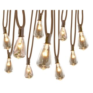 Gemmy 10.5 ft White Edison Bulbs String Lights