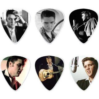 Dunlop Elvis Presley Wertheimer Collection Pick Tin with 6 Medium Picks (Standard) Musical Instruments