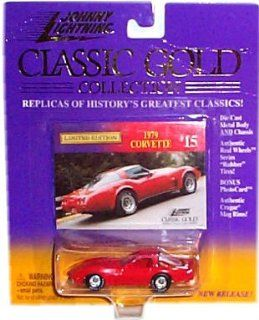 Johnny Lightning   Limited Edition Classic Gold Collection   1979 Corvette (Red)   Collector #15: Toys & Games