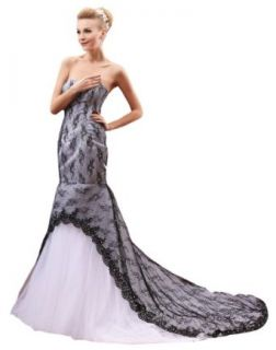 Honeystore Women's Mermaid Strapless Backless Lace and Tulle 2014 Wedding Dress at  Women�s Clothing store: